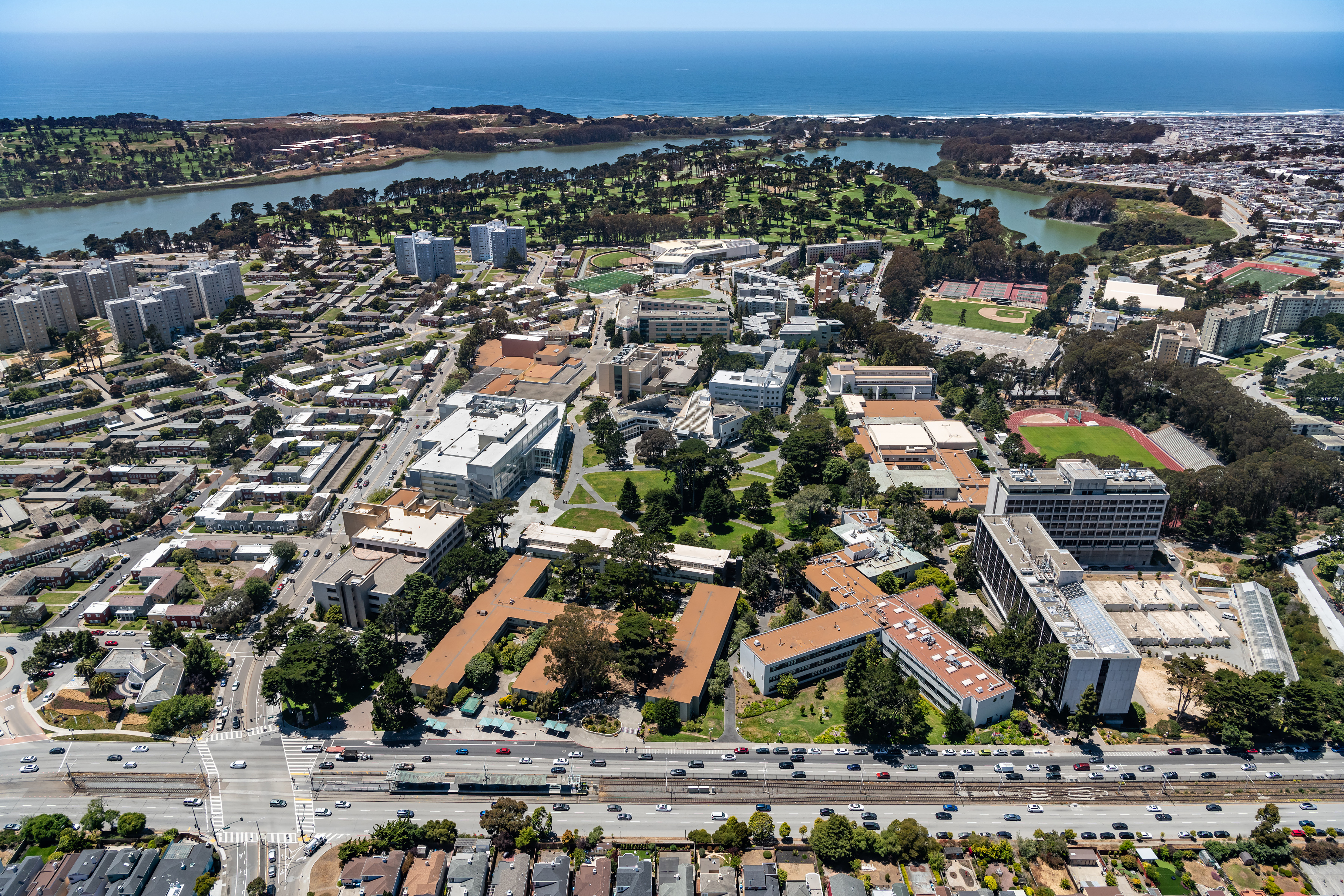 Aerial view of SF State Campus